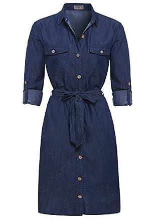 fd73b9e7729 SS7 NEW Denim Indigo Blue Shirt Dress Sizes 8 - 14 (UK - 12, Indigo ...