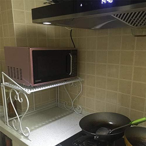 CHENSHJI Soporte de microondas Microondas Cocina Rack de Almacenamiento en Rack de Cocina Estante Rejilla del Horno (Color : White, Size : One Size): Amazon.es: Hogar