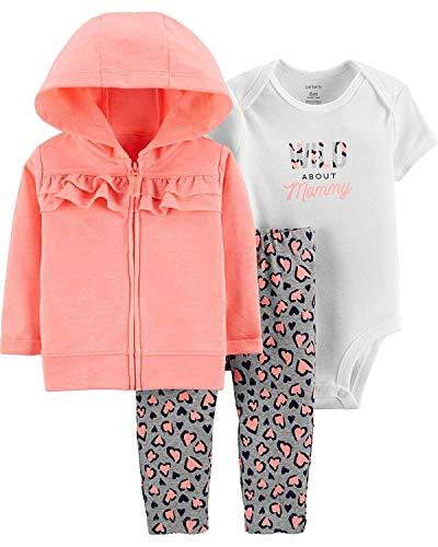 Carter's Baby Girls' 3-Piece Little Jacket Set (Neon/Orange Cheetah, 6 Months)]()