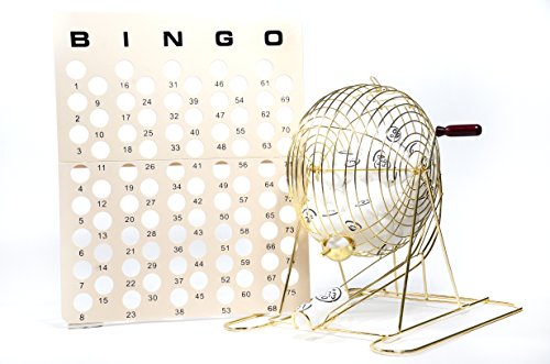 Regal Games Large Professional Brass Ping Pong Ball Bingo Cage (Roller Cage)
