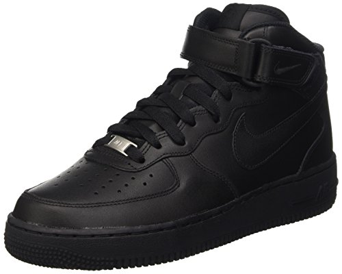 NIKE Women's WMNS Air Force 1 '07 Mid Gymnastics Shoes Black (Black/Black 001)