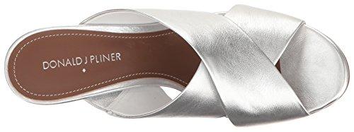 Donald J Pliner Womens Gilian Slide Sandal Silver Jitcdkb