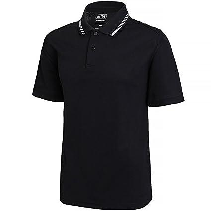 Adidas Clima Polo con Punta de Hombre de Golf de ad019bkwhm, Negro/Blanco,