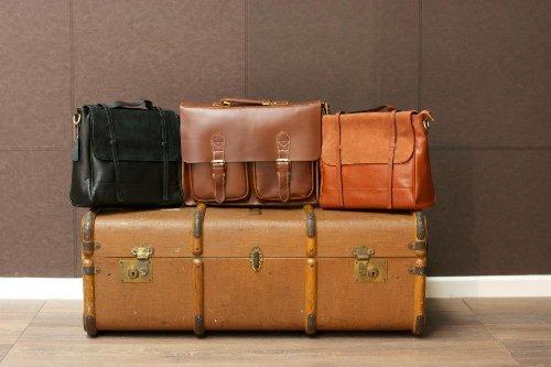Suede Genuine 100 Satchel flap W8838 Black bag Leather with nZ7vqpw