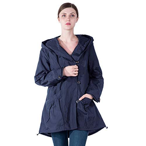 Infron IN FRONT Women Plus Size Elegant Hooded Single-Breast