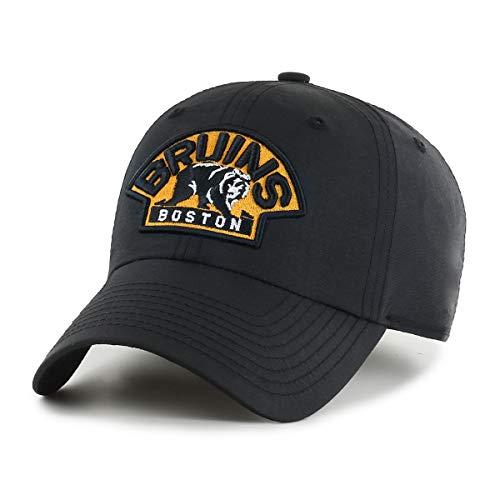 OTS NHL Boston Bruins Male Wind Swept Challenger Adjustable Hat, Black, One Size