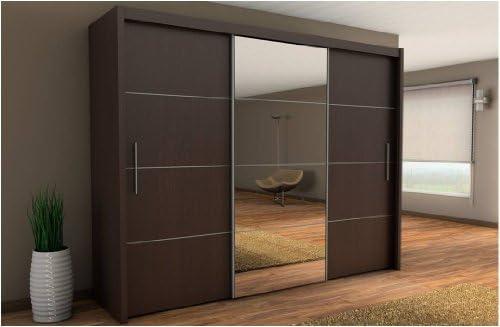 Inova Puerta corredera Armario wengué Oscuro marrón 250 cm – por Muebles Factor: Amazon.es: Hogar