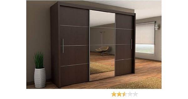 Inova Puerta corredera Armario wengué Oscuro marrón 250 cm – por ...