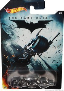Dark Knight Bat (Hot Wheels 2015 Batman The Dark Knight Movie Bat-Pod 4/6)