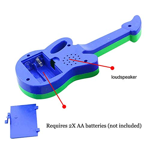 Wenini Guitar Toy Baby Kids Cute Electronic Guitar Rhyme Developmental Music Sound Child Toys Gift (Random Color) by Wenini (Image #3)