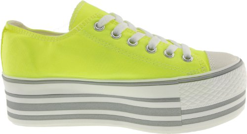 Maxstar C50 6-Holes Low-Top Trendy Platform Sneakers Shoes Neon Green aRg7qB
