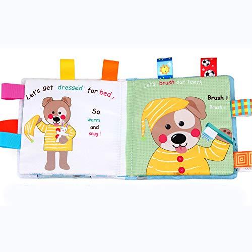 - CMrtew Soft Cartoon Quiet Cloth Books for Newborn Children Educational Baby Rattles Infant Early Cognitive Development Activity Books (As Shown, 16x16cm)