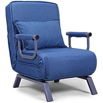 Amazon Com Jaxpety Blue Sofa Bed Folding Arm Chair
