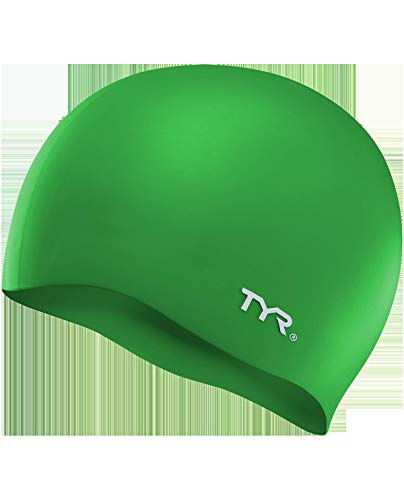 TYR Wrinkle Free Silicone Cap, Green