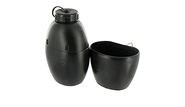 1958 58 PATTERN BRITISH ARMY STYLE 1 LITRE CAMPING WATER BOTTLE & CANTEEN CUP by Various