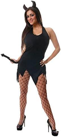 Disfraz de Halloween Diabla Sexy Negro para 10-14: Amazon.es ...