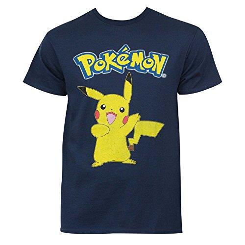 Men's Pokemon Pikachu T-Shirt, Navy, -