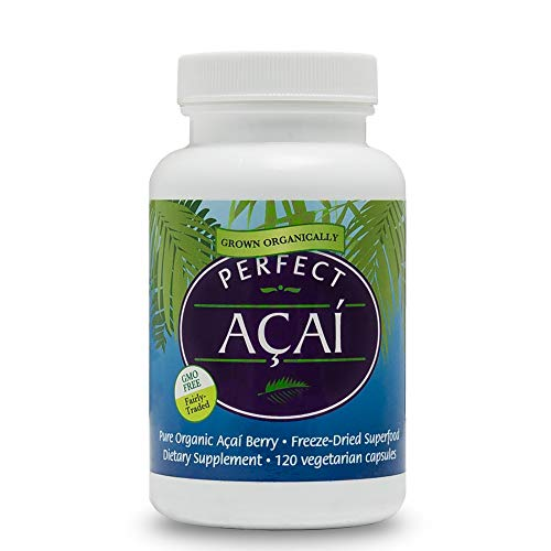 Perfect Supplements – Organically Grown Perfect Acai - Freeze-Dried Acai Supplement– 120 Vegetable Capsules