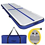 STARFLEX Gymnastics Air Track 10ft/13ft | Portable/Home Use, Durable Air Floor Mat for Tumble/Tumbling & Cheerleading | Airtrack for Beginner & Experienced Gymnasts | Foot Pump & Carry-on Bag