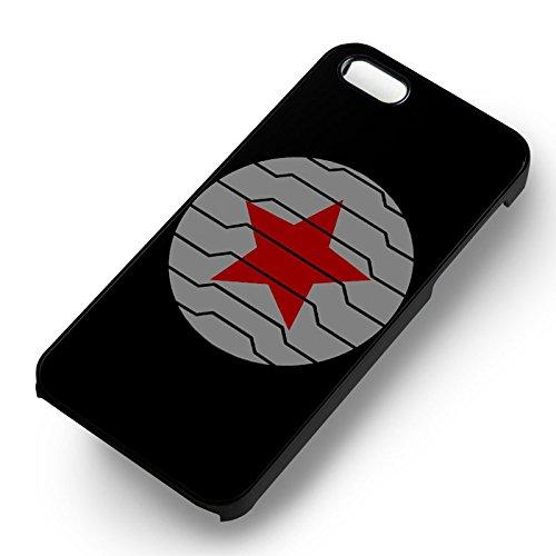 Winter Soldier Logo pour Coque Iphone 6 et Coque Iphone 6s Case (Noir Boîtier en plastique dur) P5L7UL