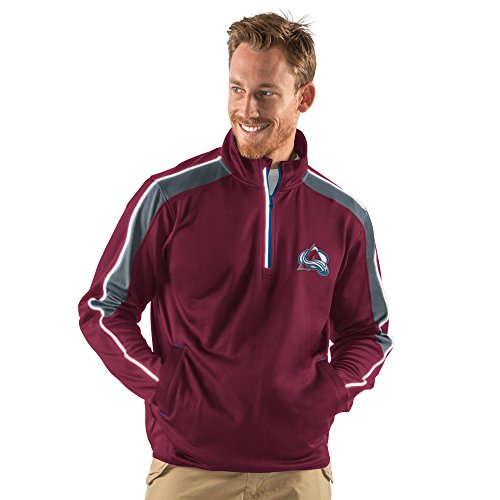 G-III Sports NHL Colorado Avalanche Men's Synergy Half Zip Pullover Jacket, Medium, Maroon