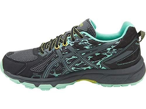 ASICS Women's Gel-Venture 6 Running-Shoes,Black/Carbon/Neon Lime,7 Medium US