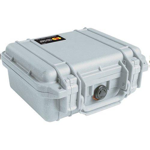 Pelican 1200 Case without Foam, Waterproof, Dustproof- Silver by Pelican