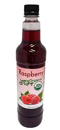 Organic Flavoring - Joe's Syrup Organic Flavored Syrup, Organic Raspberry, 750 ml