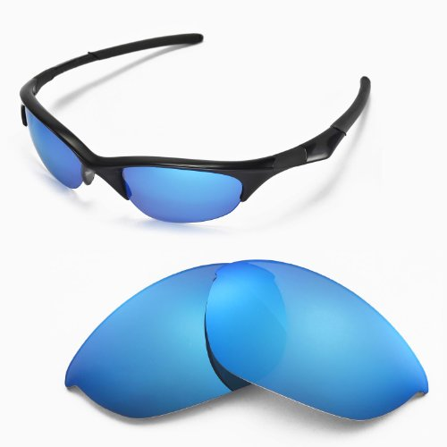 Walleva Replacement Lenses for Oakley Half Jacket Sunglasses - Multiple Options Available (Blue) by Walleva