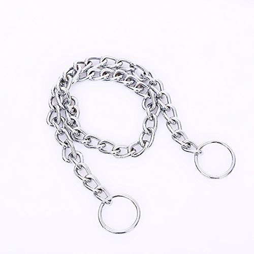WXJHA Dog Collar Chain Metal Neck Collar Double Ring Twist Chain Traction Rope Bolt Dog Rope Training Walking Obedience Link Double Plated for Big Small Dog,S:1.6mm30cm 6 Mm Neck Collar