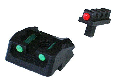 1911 Mil Spec, 70 Series Style Fixed Fiber Optic Sight Set Green Rear, Red Front