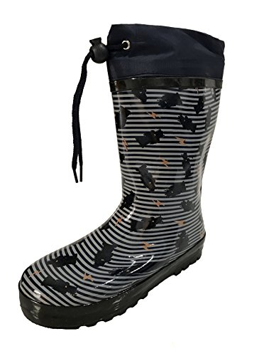 Pictures of Youth Boys Blue Striped Robot Design Rain Blue 1