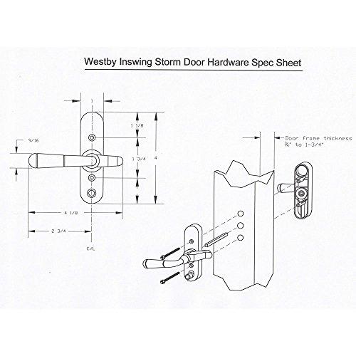 Storm Door Inswing Westby Handle Black 3/4 Inch Thick Door-90236-061-.75 by Internatonal Resources, Inc. (Image #2)