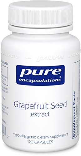 Pure Encapsulations - Grapefruit Seed Extract - Hypoallergenic Supplement Supports GI Tract and Balance of Intestinal Microorganisms* - 120 Capsules