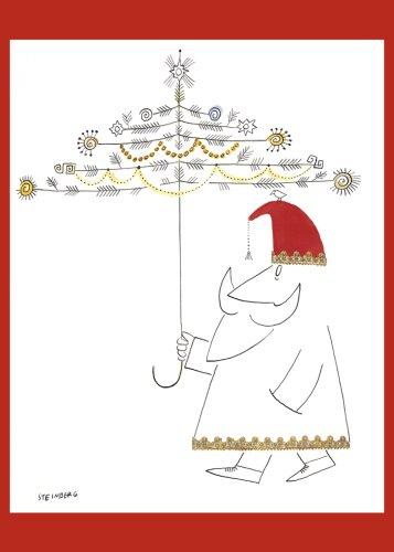 Fotofolio Holiday Boxed Cards, Steinberg Santa Claus With Umbrella, c. 1950-55 ()