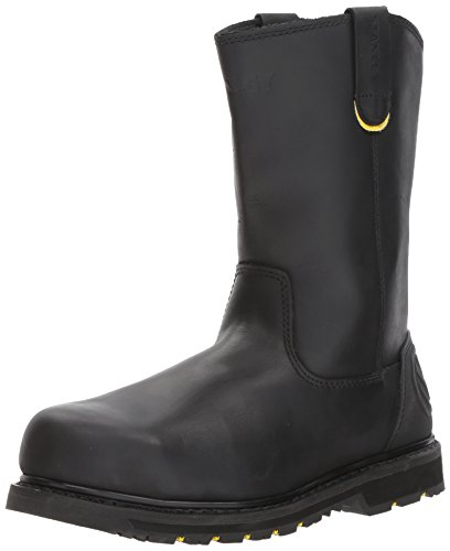 Black Leather Work Boots (Stanley Men's Dropper 2.0 Steel Toe Industrial and Construction Shoe, Black, 9 M US)