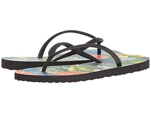 0a85838d932d4b Vans Women s Hanelei (VTCS) Flip-Flops Sandals (Bloom) Black (8