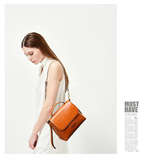 Yoome Crossbody Brown Handbag Women Purses Cowhide Bags Bag Phone Cell for Daily Vintage Leather Bags Shoulder grxgwqU