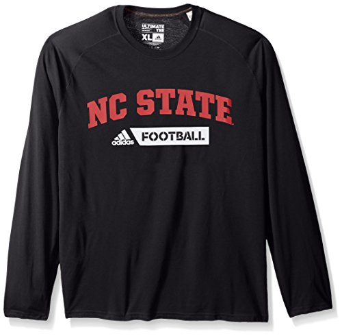 Football Adidas Nc State Wolfpack Jersey (adidas NCAA North Carolina State Wolfpack Adult Men Sideline Gridiron Ultimate L/S Tee, Large, Black)