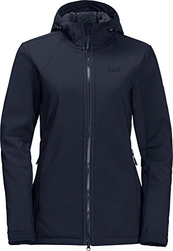 Jack Wolfskin Softshell Giacca Blu Valley donna Rock Long w84w7q