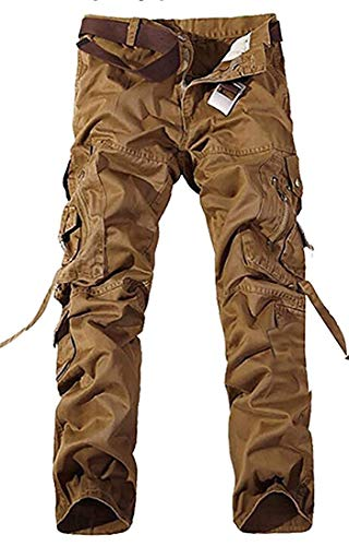 (Fashion Style Worn Men's Cargo Pants Wild Casual Pants Work Pants Trousers,32,2)