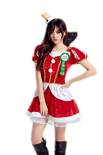 Diy Shower Curtain Costume (Maxde Sexy Christmas Costumes For Women Red MIss Santa Costumes With Hat)