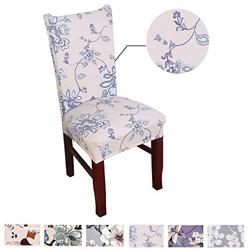 Argstar 2pcs Chair Covers Dining Room Spendex Slipcovers Spring Flower Design