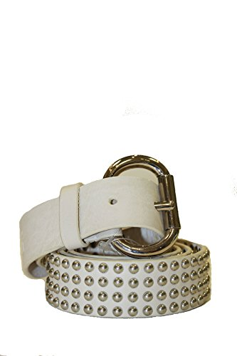 D&G Dolce & Gabbana Belts White Leather DC0707 - And Gabbana Clearance Dolce
