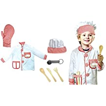 Chef Baker Dress Up Costume Role Play Set with Accessories by Le Shong