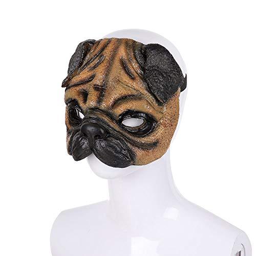 Shar Pei Animal Adult Costume Half Face Mask]()
