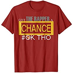 Mens Funny Trap Give The Rapper A Chance Rap T- Shirt/Rap Shirts Large Cranberry