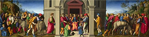 Oil Painting 'Bacchiacca Joseph Receives His Brothers', 24 x 96 inch / 61 x 244 cm , on High Definition HD canvas prints is for Gifts And Bath Room, Garage And Hallway Decoration, giant by LuxorPre