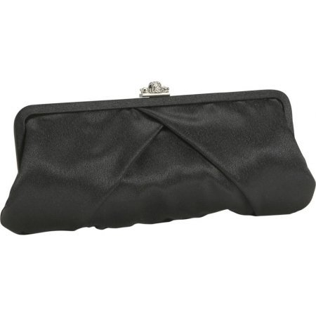 J. Furmani Satin Clutch w Rhinestone Clasp - (Furmani Satin Clutch)