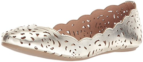 UNIONBAY Women's Terry Ballet Flat, Gold, 7.5 M US by UNIONBAY